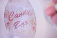 Candy bar text Stock Photos