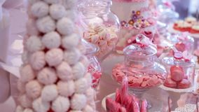 Candy bar at a wedding.  stock video