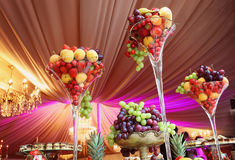 Rich Many Fresh Fruits On Luxury Wedding Table At The Reception ...