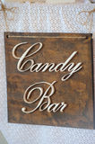 Candy Bar Wooden board. The Candy Bar Wooden board stock photos
