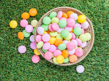 Candy basket Stock Photos