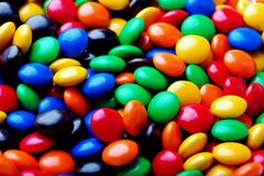 Candy beans. Closeup shot of colorful candy beans Royalty Free Stock Photo