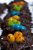 Candy bird nests shallow focus Stock Photo