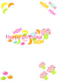 Candy birthday card Stock Photos