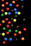 Candy on black background - vertical Stock Photos