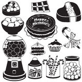 Candy black icons Stock Photo