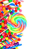 Candy border stock photography
