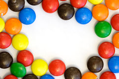 Candy border - horizontal. Colorful candy border with copy space in the center - horizontal royalty free stock images