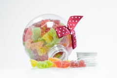 Candy in a bottle Royalty Free Stock Photo