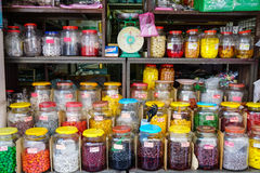 Candy bottles at the shops in Melaka, Malaysia Stock Photo