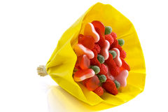 Candy bouquet Stock Photo