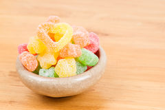 Candy in bowl Royalty Free Stock Image