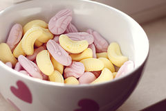 Candy in bowl royalty free stock photos