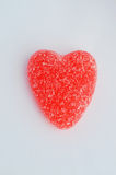 Candy. A bowl of Red valentine candy heart stock photos