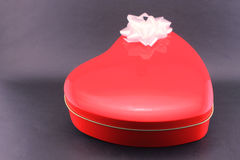 Candy box with heart shape Royalty Free Stock Photography