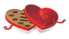 Candy box heart-shaped Stock Photography