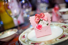 Candy box at wedding Royalty Free Stock Photography