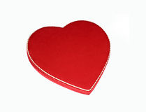 Candy Box Valentine. An obvious symbol of Valentines Day is this red, heart-shaped candy box Stock Photo