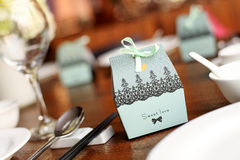 Candy box at wedding Stock Image