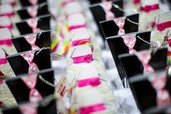 Candy boxes at wedding Royalty Free Stock Images