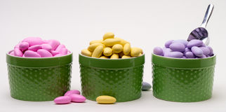 Candy Buffet Spring Colors stock photos