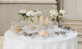 Candy buffet. For a wedding Royalty Free Stock Photography