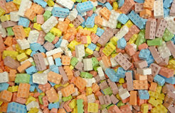 Candy building blocks background Royalty Free Stock Images