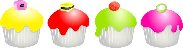 Candy buns royalty free illustration