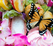 Candy Butterfly (2). Fake Butterfly in Candy Assortment Selection Royalty Free Stock Images