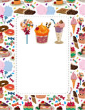 Candy cake card Royalty Free Stock Photos