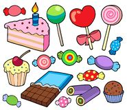 Candy and cakes collection Royalty Free Stock Photo