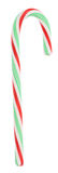Candy Cane. A photo of a red and green candy cane set against a white background royalty free stock photos