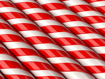 Candy Cane. Background of lined candy canes Royalty Free Stock Photo