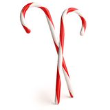 Candy Cane. Two Christmas candy canes ready for decorating christmas tree Royalty Free Stock Photos
