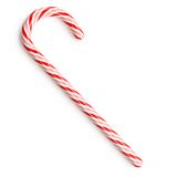 Candy Cane. Traditional candy cane on white background royalty free stock photography