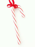 Candy cane. With red ribbon stock photo