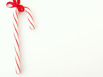 Candy cane. On the left side stock photography