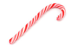 Candy cane. Isolated on white royalty free stock images