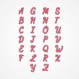 Candy Cane Alphabet Fotografia Stock