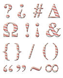 Candy Cane Alphabet Stock Image