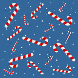 Candy cane background Stock Image