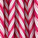 Candy cane background. Seamless horizontal pattern. Vector illustration. Royalty Free Stock Photos