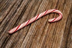 Candy cane,barnwood,background Royalty Free Stock Images