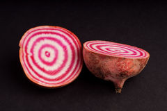 Candy cane beetroot Stock Photos