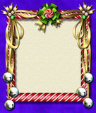 Candy cane-bell frame Stock Photo