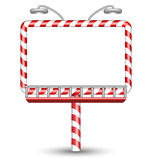 Candy cane billboard on white Stock Image
