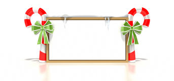 Candy Cane Blank Sign stock illustration