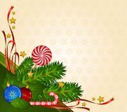Candy cane and bolls Stock Photo