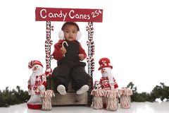 Candy Cane Booth Stock Photo