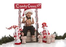 Candy Cane Booth Royalty Free Stock Photography